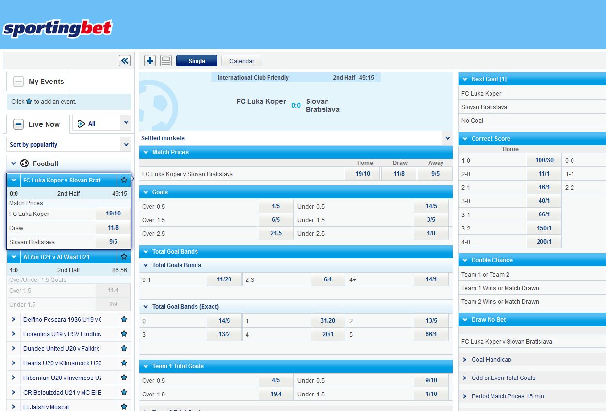 Sportingbet – is a good sportsbook with great odds for ...